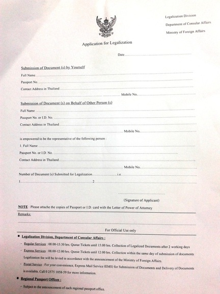 power of attorney form thailand  Registering Marriage in Thailand (Foreign boy and Thai girl ...